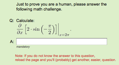 Math CAPTCHA